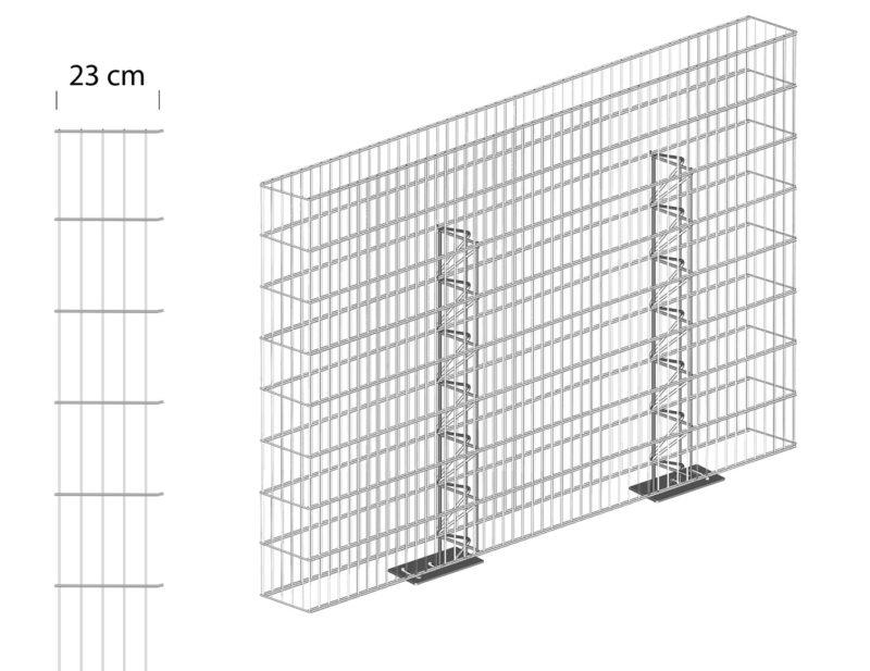 Gabionenzaun-Grafik-mit-Fussplatte